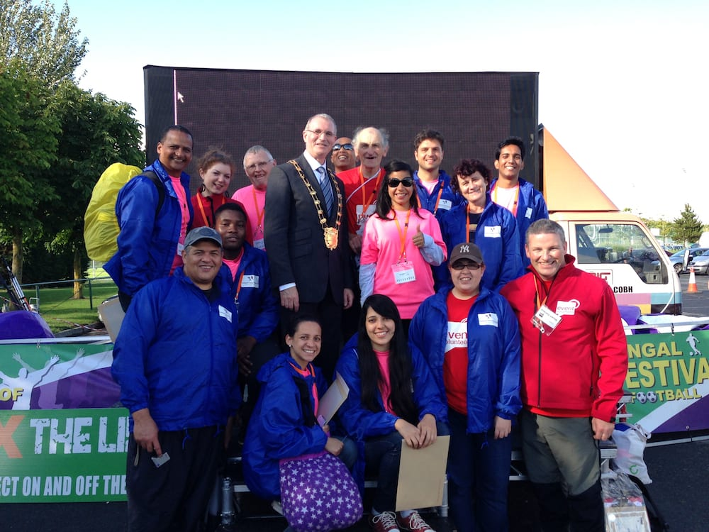 Event Volunteers and Mayor of Fingal Clllr. Ciaran Dennison