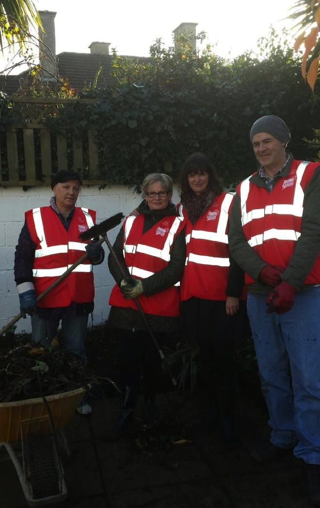 Some of our hard working Event Volunteers at the CASA Breakhouse in Malahide as part of the TV Programme - At Your Service To The Rescue